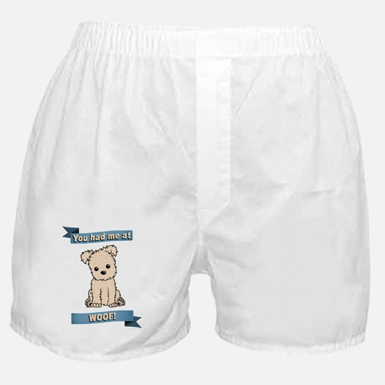 You had me at WOOF! Boxer Shorts