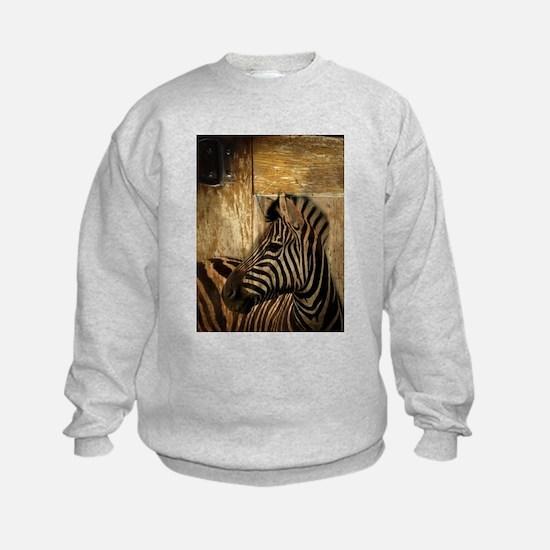 wild zebra safari Sweatshirt