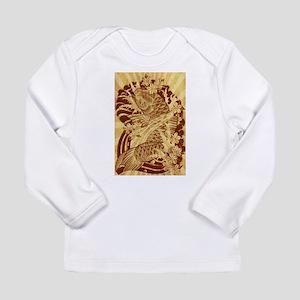 vintage japanese koi fish Long Sleeve T-Shirt