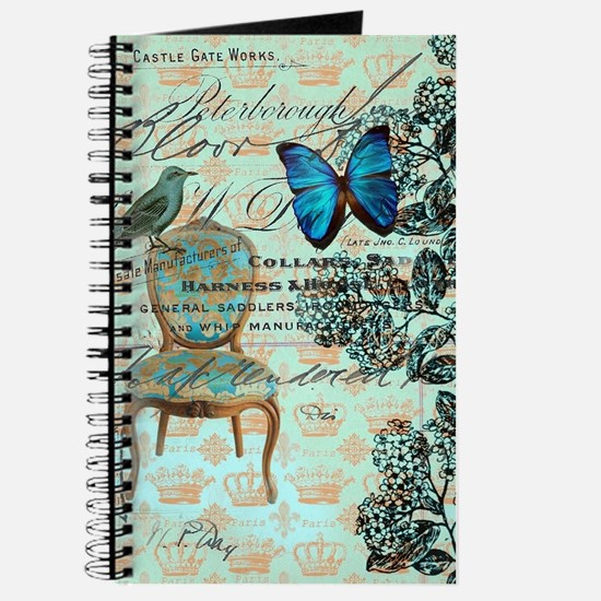 mint vintage jubilee butterfly floral bota Journal