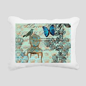 mint vintage jubilee but Rectangular Canvas Pillow