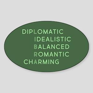 Libra Acronym Sticker (Oval)