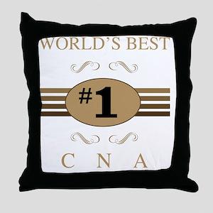 World's Best CNA Throw Pillow