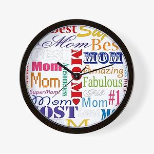 Text Mom Wall Clock