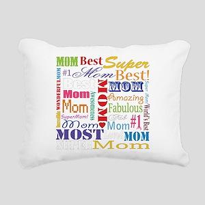 Text Mom Rectangular Canvas Pillow
