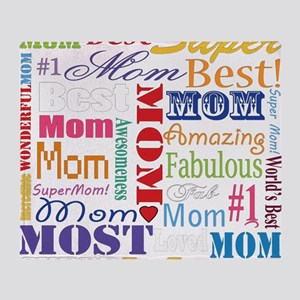 Text Mom Throw Blanket