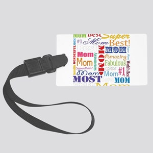 Text Mom Large Luggage Tag