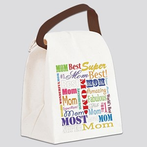 Text Mom Canvas Lunch Bag