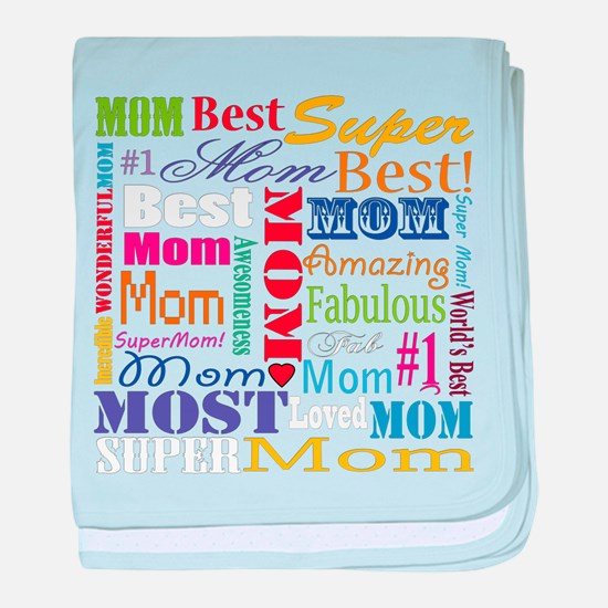 Text Mom baby blanket