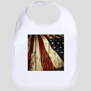 grunge USA flag Bib