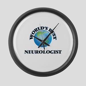 World's Best Neurologist Large Wall Clock