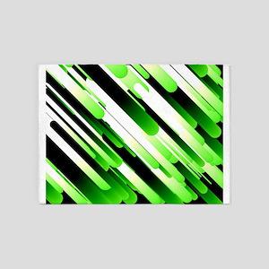 High contrast green 5'x7'Area Rug