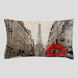 vintage eiffel tower paris art Pillow Case