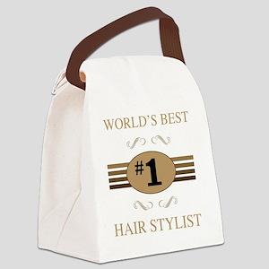 World's Best Hair Stylist Canvas Lunch Bag