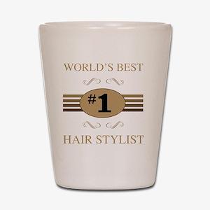 World's Best Hair Stylist Shot Glass