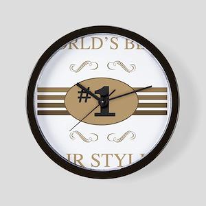 World's Best Hair Stylist Wall Clock