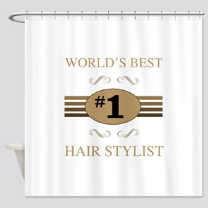 World's Best Hair Stylist Shower Curtain