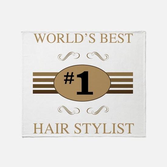 World's Best Hair Stylist Throw Blanket