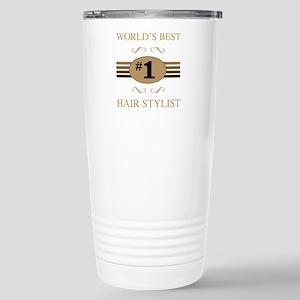 World's Best Hair Styli Stainless Steel Travel Mug
