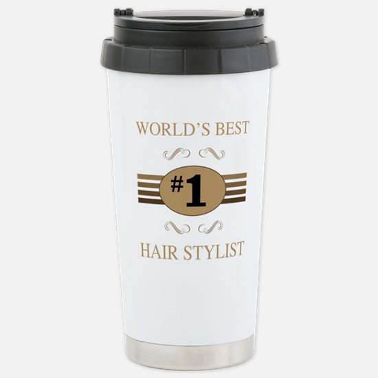 World's Best Hair Styli Stainless Steel Travel Mug