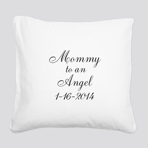 Personalizable Mommy to an Angel Square Canvas Pil