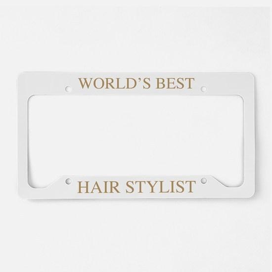 World's Best Hair Stylist License Plate Holder