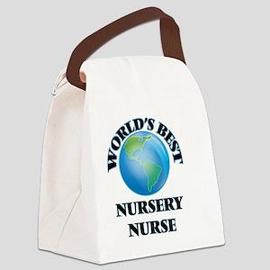 World's Best Nursery Nurse Canvas Lunch Bag
