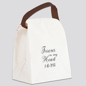 Forever in my Heart Canvas Lunch Bag