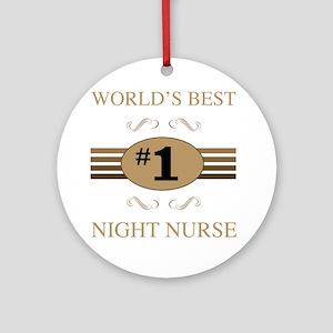 World's Best Night Nurse Ornament (Round)
