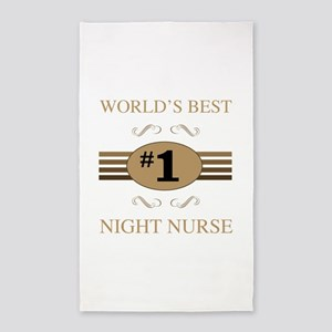World's Best Night Nurse 3'x5' Area Rug