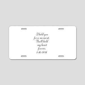 Personalizable For a Moment Aluminum License Plate