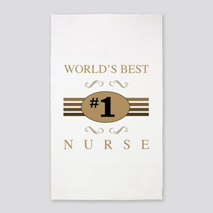 World's Best Nurse 3'x5' Area Rug
