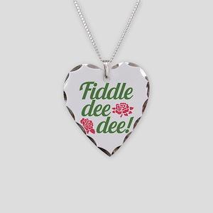 Fiddle dee dee GWTW Necklace Heart Charm