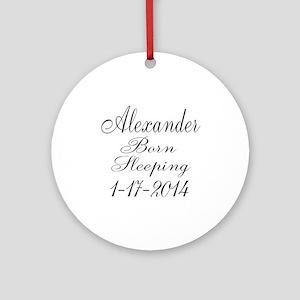 Personalizable Born Sleeping Ornament (Round)