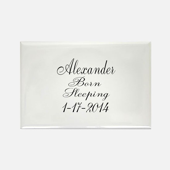 Personalizable Born Sleeping Magnets