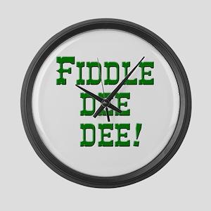 Emerald Green Fiddle dee dee Large Wall Clock