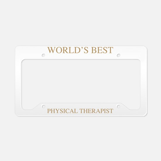 World's Best Physical Therapi License Plate Holder