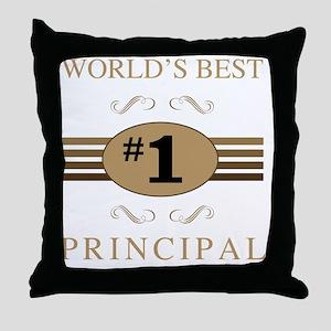 World's Best Principal Throw Pillow