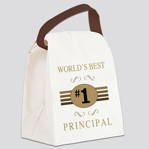 World's Best Principal Canvas Lunch Bag