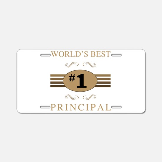 World's Best Principal Aluminum License Plate