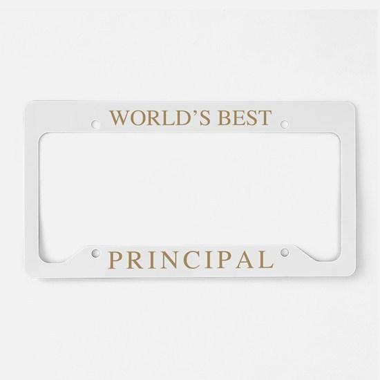 World's Best Principal License Plate Holder