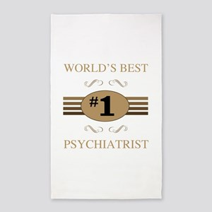 World's Best Psychiatrist 3'x5' Area Rug