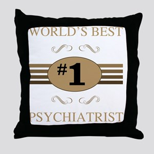 World's Best Psychiatrist Throw Pillow