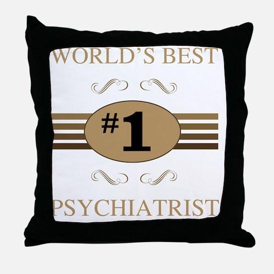 World's Best Psychiatrist Throw Pillow