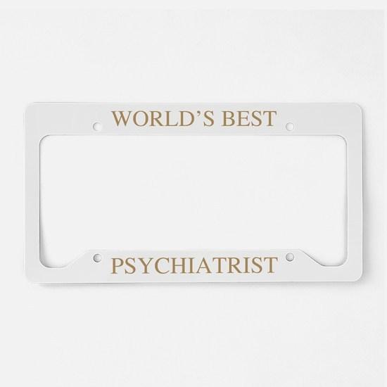 World's Best Psychiatrist License Plate Holder