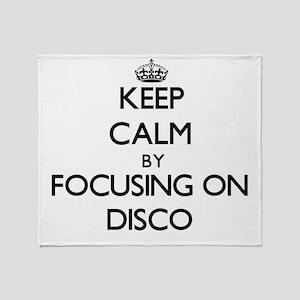 Keep Calm by focusing on Disco Throw Blanket
