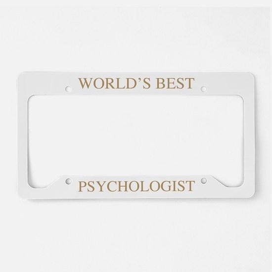 World's Best Psychologist License Plate Holder