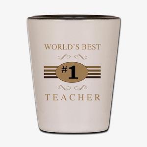 World's Best Teacher Shot Glass