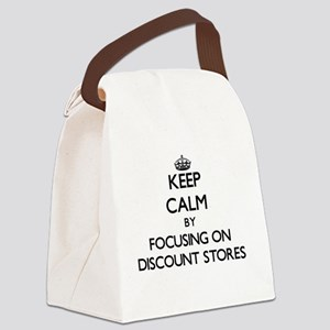 Keep Calm by focusing on Discount Canvas Lunch Bag