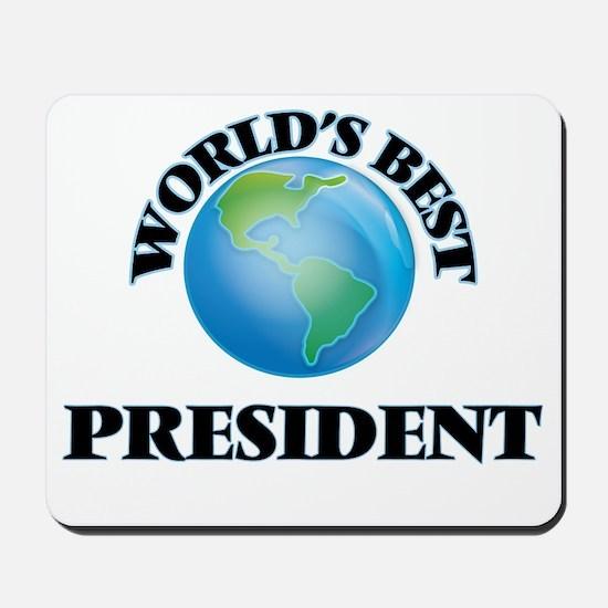 World's Best President Mousepad
